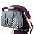 Homlynn Diaper Tote Bag, Baby Changing Satchel Bag Messenger Stroller Organizer