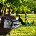 Homlynn Baby Stroller Organizer with Insulated Cup Holder, Pram Buggy Organiser