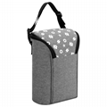 Insulated Baby Bottle Bag, Convertible Breastmilk Cooler Bag Double Warming Tote