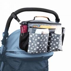 Stroller Organizer, Diaper Bag with Shoulder Straps for Messenger Use