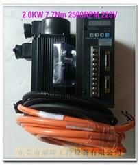 國產華大伺服電機配華大SBF-AL301驅動器 2.0kw 7.7N 2500RPM 220V 木工機械用
