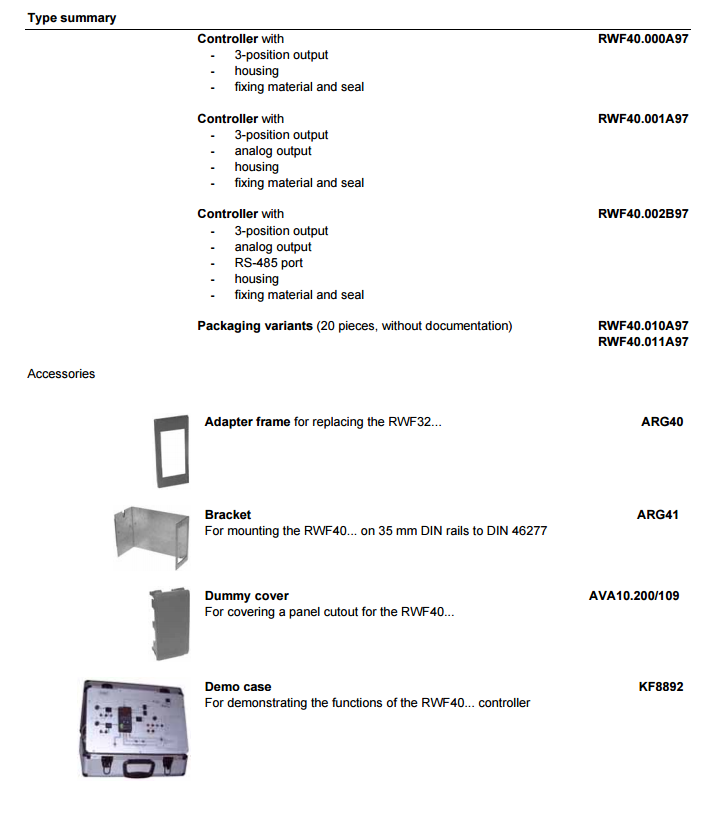 SIEMENS Universal Burner Controller RWF40. 3