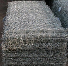 熱鍍鋅五擰石籠網