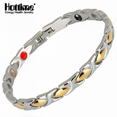 Hottime Hot Sale 4 in 1 Health Energy Fashion 316L Stainless Steel Bracelet