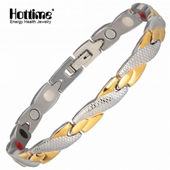Fashion Design Good Sale Elegant Magnetic Stainless Steel Bracelet 5.01 Reviews