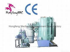 two double door vacume metalizing machines / plastic vacuum coating equipment