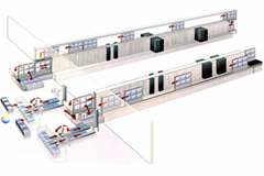 連續性ITO導電玻璃磁控濺射生產線