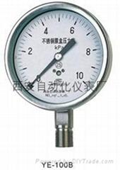 YE-150F膜盒压力表