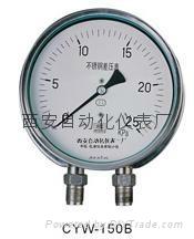 CYW150不锈钢差压表