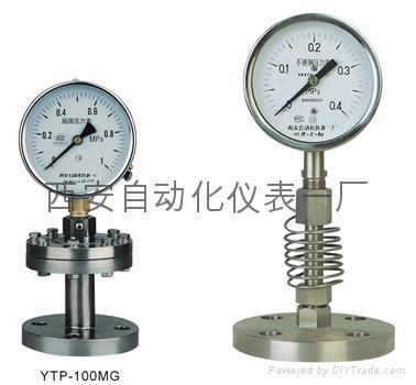 YTP100BF不鏽鋼隔膜壓力表 1