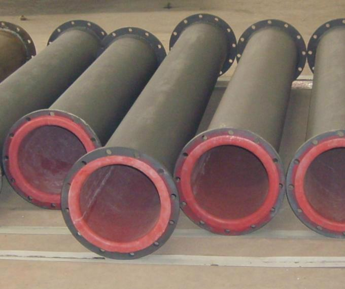 Rubber Lined Pipes With Best Abrasion Resistance And High