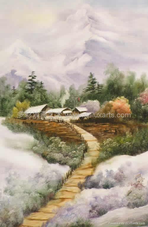 油画 多彩艺术 多彩油画 大芬油画 中国油画 刀画油画 1