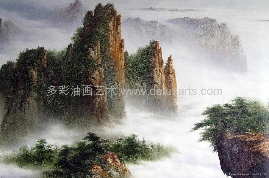 油畫 多彩藝朮 多彩油畫 大芬油畫 中國油畫 刀畫油畫 2