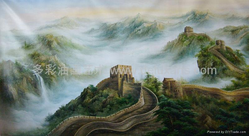 油画 多彩艺术 多彩油画 大芬油画 中国油画 刀画油画 4
