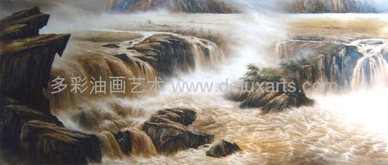 油画 多彩艺术 多彩油画 大芬油画 中国油画 刀画油画 5