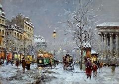 油画 多彩艺术 多彩油画 大芬油画 中国油画 街景油画