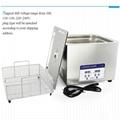 Professional Digital Ultrasonic Cleaner Bath with 15L 360W 40kHz Heating Baskets 3