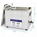 Professional Digital Ultrasonic Cleaner Bath with 15L 360W 40kHz Heating Baskets 4