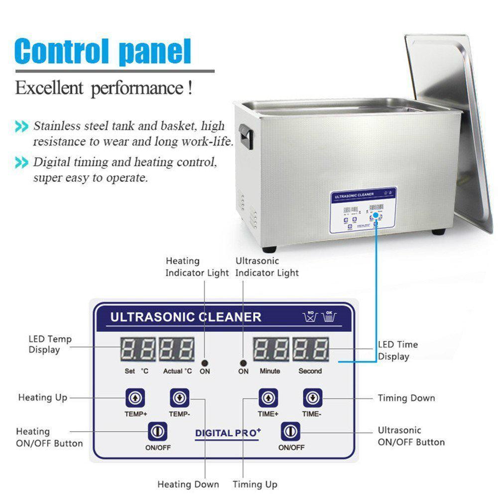 Digital Ultrasonic Cleaner JP-100S(digital, 30L, 8gallon) for LAB Instruments  5