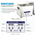 Professional Digital Ultrasonic Cleaner Bath with 15L 360W 40kHz Heating Baskets 5
