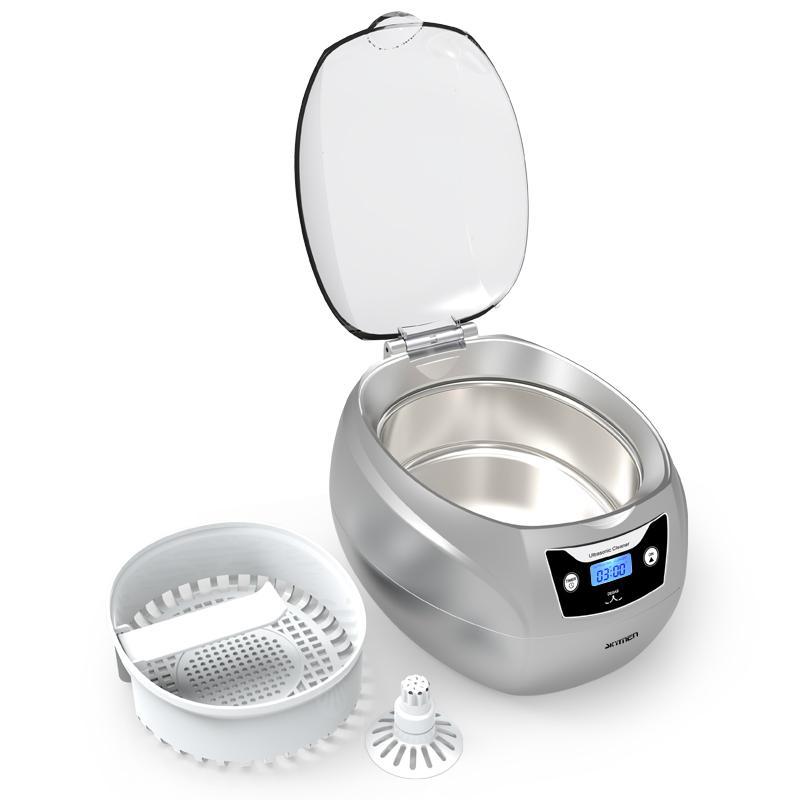 750ml ultrasonic cleaner degas function wash jewelry watch digital LED display 4