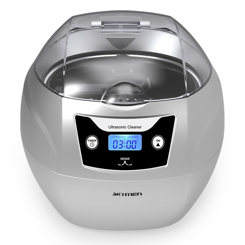 750ml ultrasonic cleaner degas function wash jewelry watch digital LED display 1