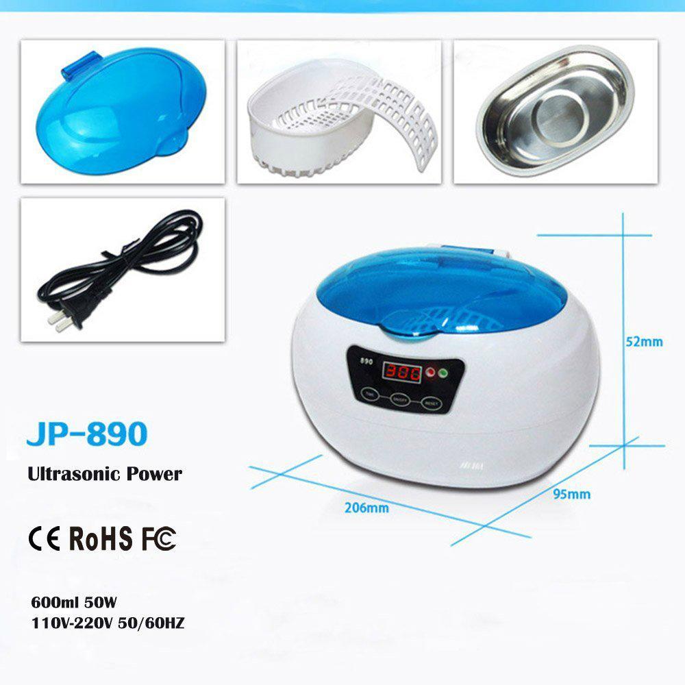Jewelry denture eyeglass ultrasonc cleaner 600ml LED display  2