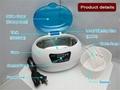 Jewelry denture eyeglass ultrasonc cleaner 600ml LED display  4