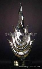 鏡面不鏽鋼雕塑陳設擺件