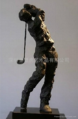 高尔夫人物雕塑