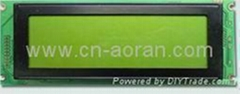 High quality Graphic LCD Module 240x64 FSTN STN Yellow Green  With Led Backlight
