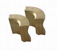 Special shape Motor Magnet permanent maggent gold coating N48H 2