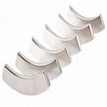 Customized Arc NdFeB Magnet Neodymium Curve For Motor 17