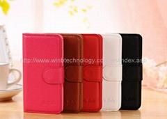 i9190 flip case free screen film mini s4 case Flip Leather Case Cover for Samsun