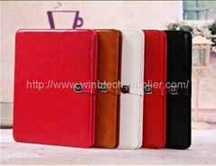 Luxury Pattern Leather Case for apple iPad 4 3 2 Magnetic New Smart Cover Stand,