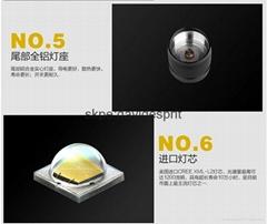 oem logo with 1 battery LED flashlight 1200LUMENS T6063-T6 M1 CREE XML-L2 aeron