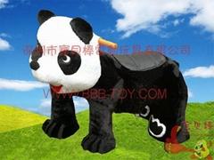 電動毛絨玩具車熊貓