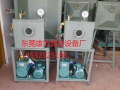 广州白云区花都狮岭皮边油专用真空脱泡机2x-70升真空泵