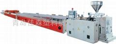 PVC木塑装饰板异型材生产线