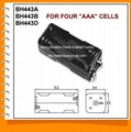 Four AAA Cell Battery Holder(BH443)