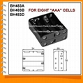 Eight AAA Cell Battery Holder(BH483)