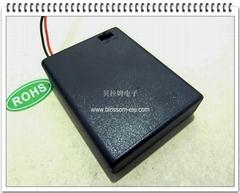 四節七號帶蓋帶開關安全電池盒