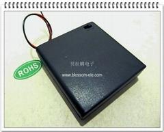 四节五号带盖带开关安全电池盒