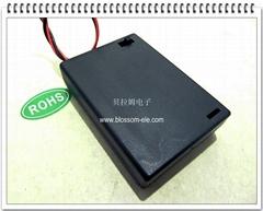三節五號帶蓋帶開關安全電池盒