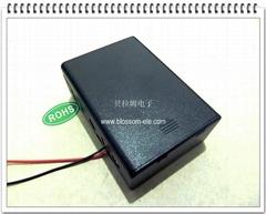三節二號帶蓋安全電池盒