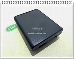 "4 ""AA"" Belt-Clip Battery Holder with USB Port(SBH-341USB5V)"