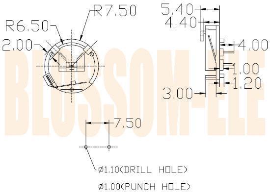 钮扣电池座(CR1220-2) 2