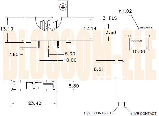 钮扣电池座(CR2032)BK-5058 2