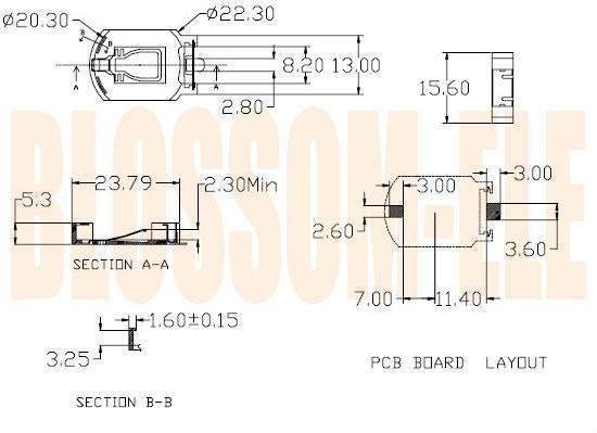鈕扣電池座(CR2032-8) 2