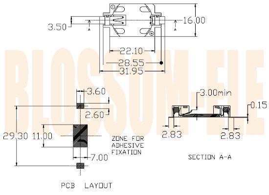 鈕扣電池座(CR2032-6) 2